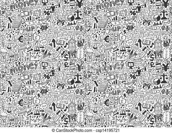 seamless financial pattern - csp14195721
