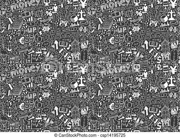 seamless financial pattern - csp14195725