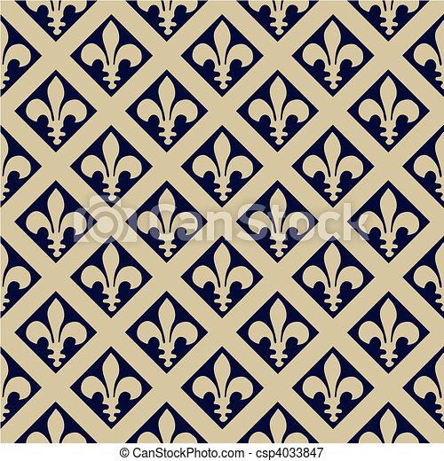Seamless Fleur De Lys Pattern - csp4033847