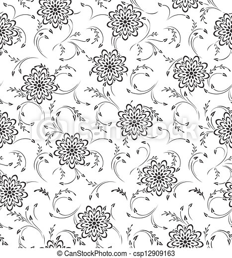 Seamless Floral-Background - csp12909163