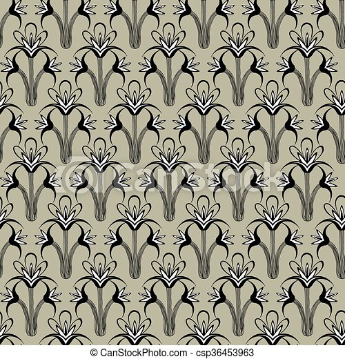 Seamless floral background - csp36453963