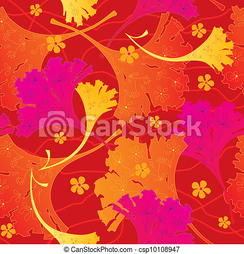 Seamless floral background - csp10108947