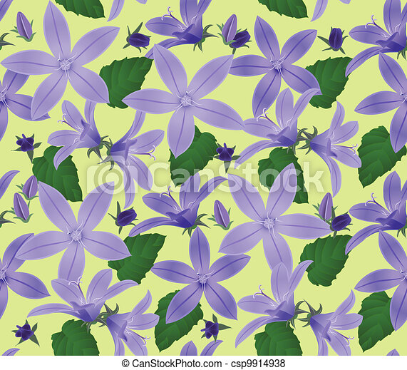 Seamless floral background - csp9914938