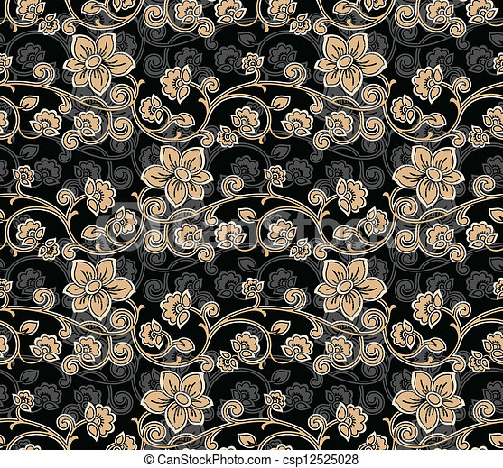 Seamless Floral-Background - csp12525028