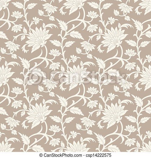 Seamless floral background - csp14222575