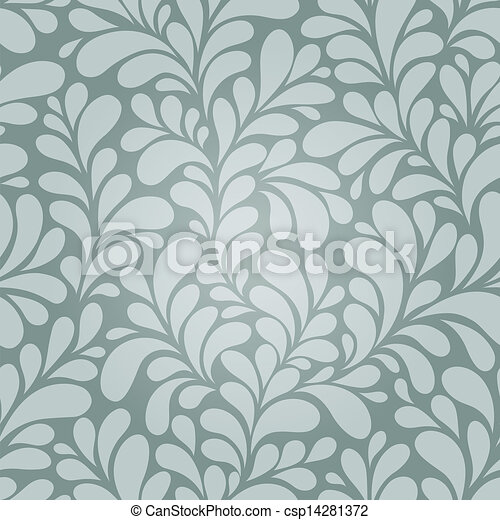 Seamless floral background - csp14281372