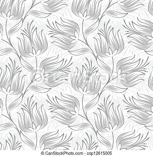 Seamless floral background - csp12615005