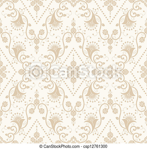 Seamless - Floral background - csp12761300