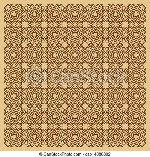 seamless floral background - csp14086802