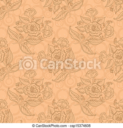 Seamless floral background - csp15374608