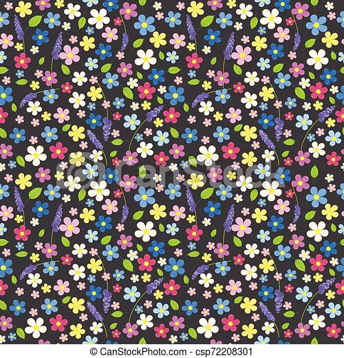 Seamless floral background - csp72208301