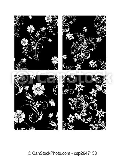 seamless floral backgrounds set - csp2647153