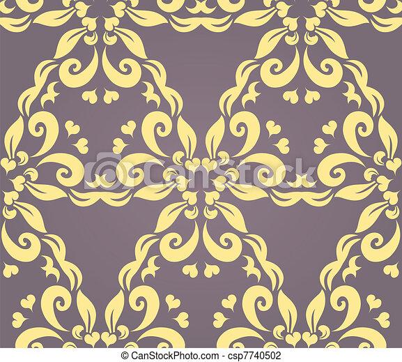 Seamless floral pattern 2 - csp7740502