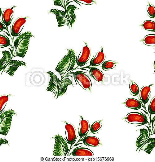 Seamless floral pattern - csp15676969