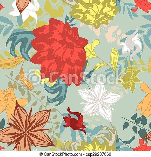 Seamless floral pattern - csp29207060
