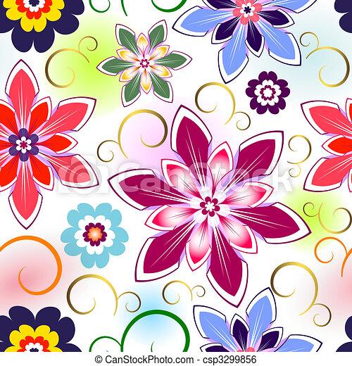 Seamless Floral Pattern  - csp3299856
