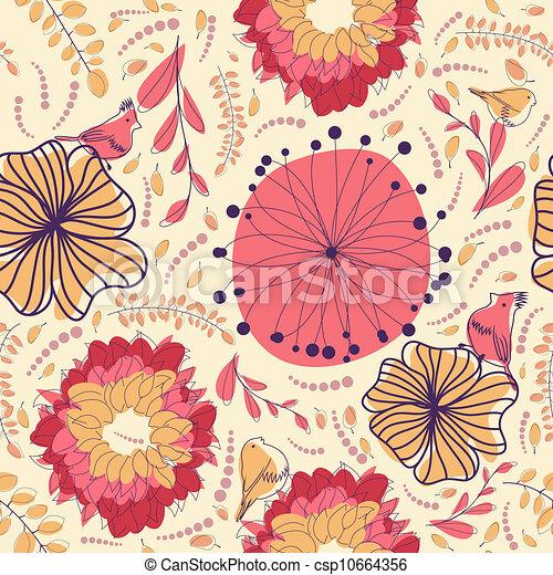 seamless floral pattern - csp10664356