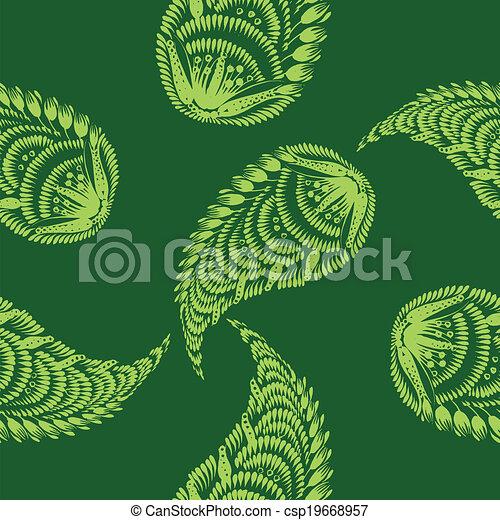 Seamless floral pattern - csp19668957