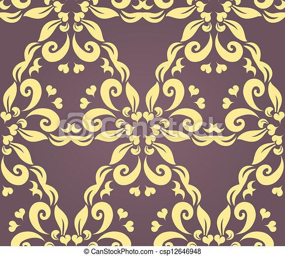 Seamless floral pattern - csp12646948