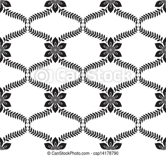Seamless floral pattern - csp14178790