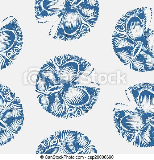Seamless floral pattern - csp20006690