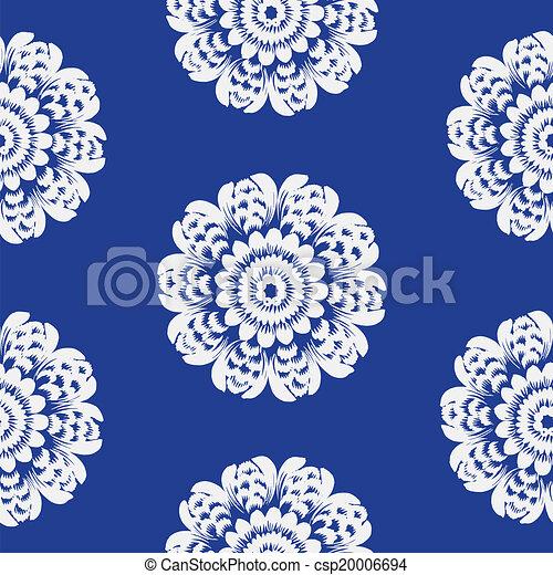 Seamless floral pattern - csp20006694
