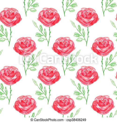 Seamless floral pattern - csp38406249