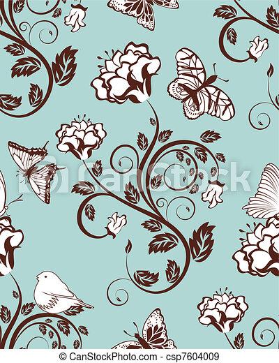 Seamless floral pattern - csp7604009