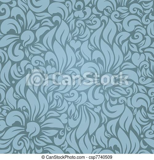 Seamless floral pattern - csp7740509