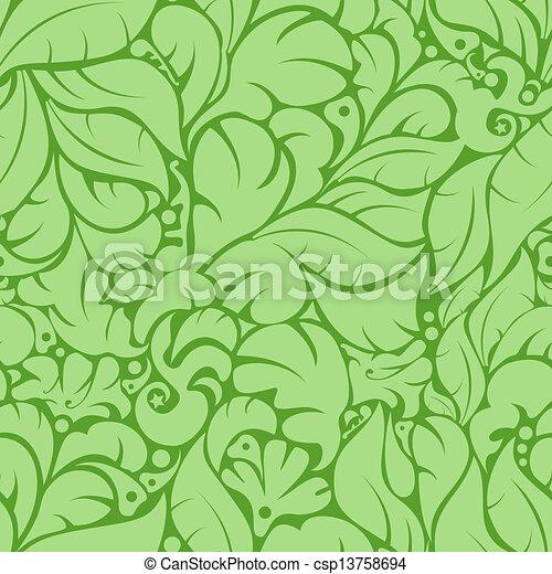 Seamless floral pattern - csp13758694