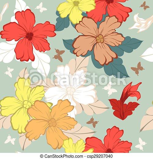 Seamless floral pattern - csp29207040