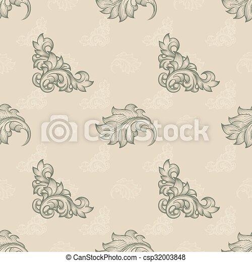 Seamless floral pattern - csp32003848