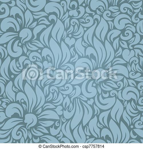 Seamless floral pattern - csp7757814