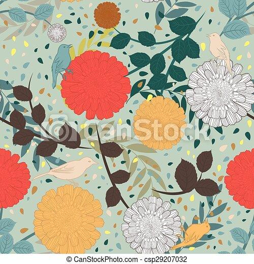 Seamless floral pattern - csp29207032