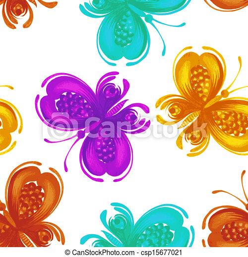 Seamless floral pattern - csp15677021