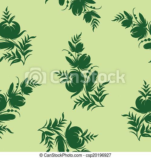 Seamless floral pattern - csp20196927