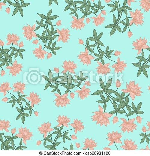 Seamless floral pattern - csp28931120