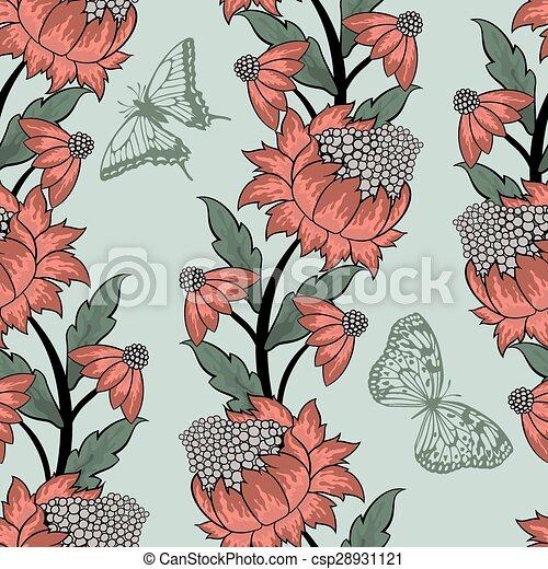 Seamless floral pattern - csp28931121