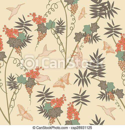 Seamless floral pattern - csp28931125