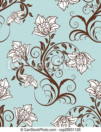 Seamless floral pattern - csp28931126