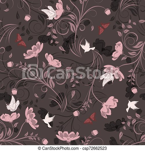 Seamless Floral Pattern - csp72662523