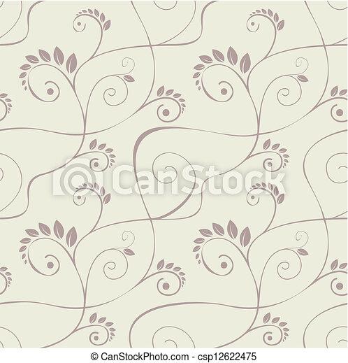Seamless floral pattern - csp12622475