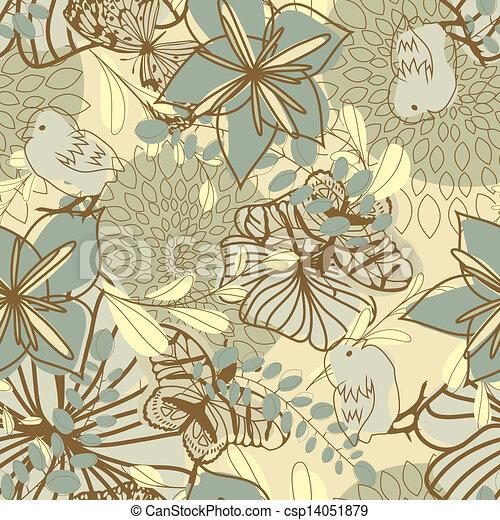 seamless floral pattern - csp14051879