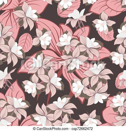 Seamless Floral Pattern - csp72662472