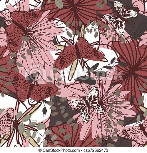 Seamless Floral Pattern - csp72662473