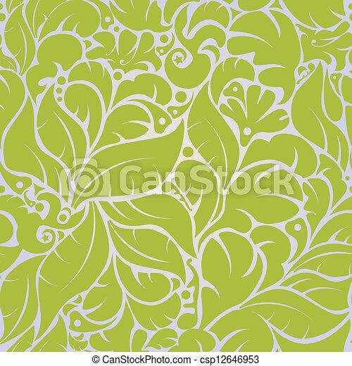 Seamless floral pattern - csp12646953