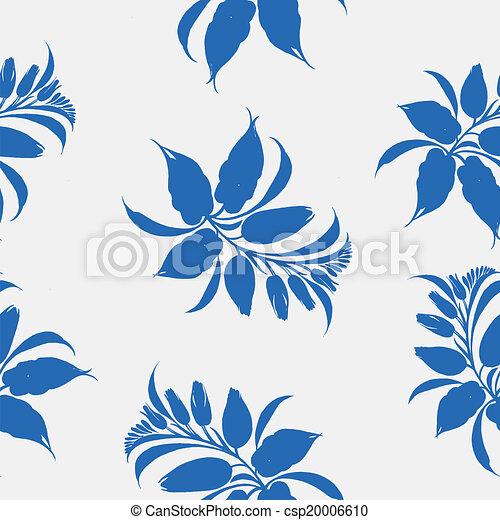 Seamless floral pattern - csp20006610