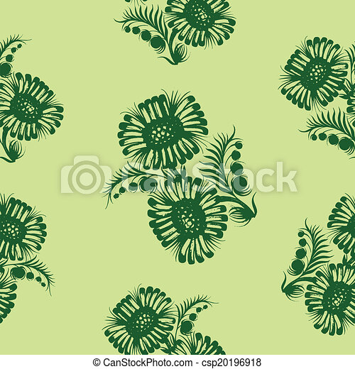 Seamless floral pattern - csp20196918