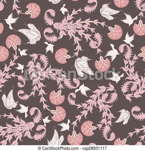 Seamless floral pattern - csp28931117