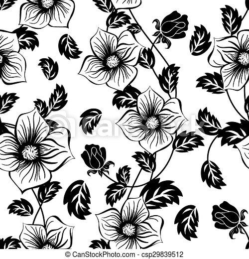 Seamless Floral Pattern - csp29839512
